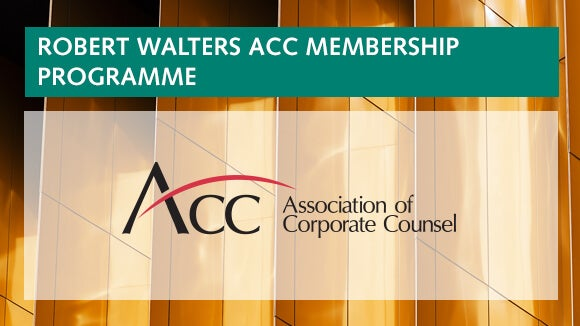 Robert Walters partners with the Association of Corporate Counsel