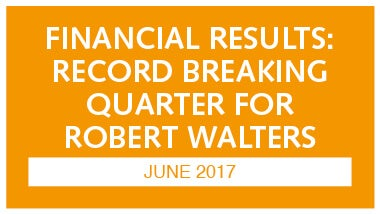 orange image with white writing discussing financial results