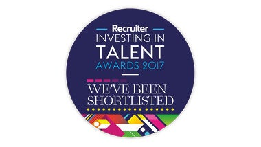 purple and colourful investing in talent awards logo