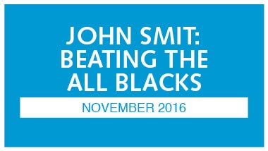 blue image with white writing that says john smit beating the all blacks november 2016