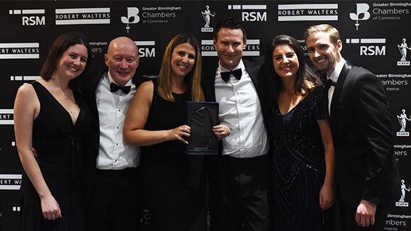 Hawthorn Leisure winners at the West Midlands Finance Awards