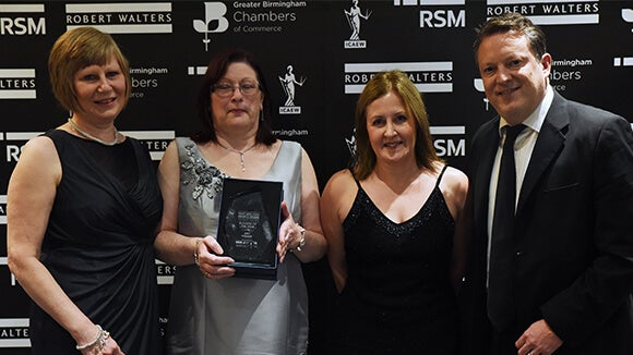 Rentokil Initial award winners at the West Midlands Finance Awards
