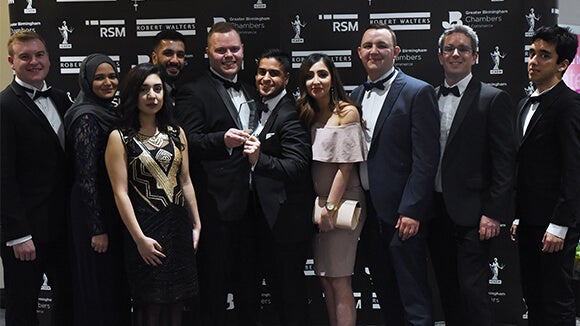 Saint-Gobain winners at the West Midlands Finance Awards