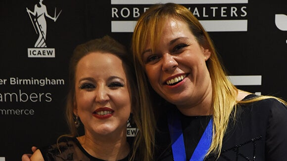 Sarah Russell and Amy Burton at the West Midlands Finance Awards
