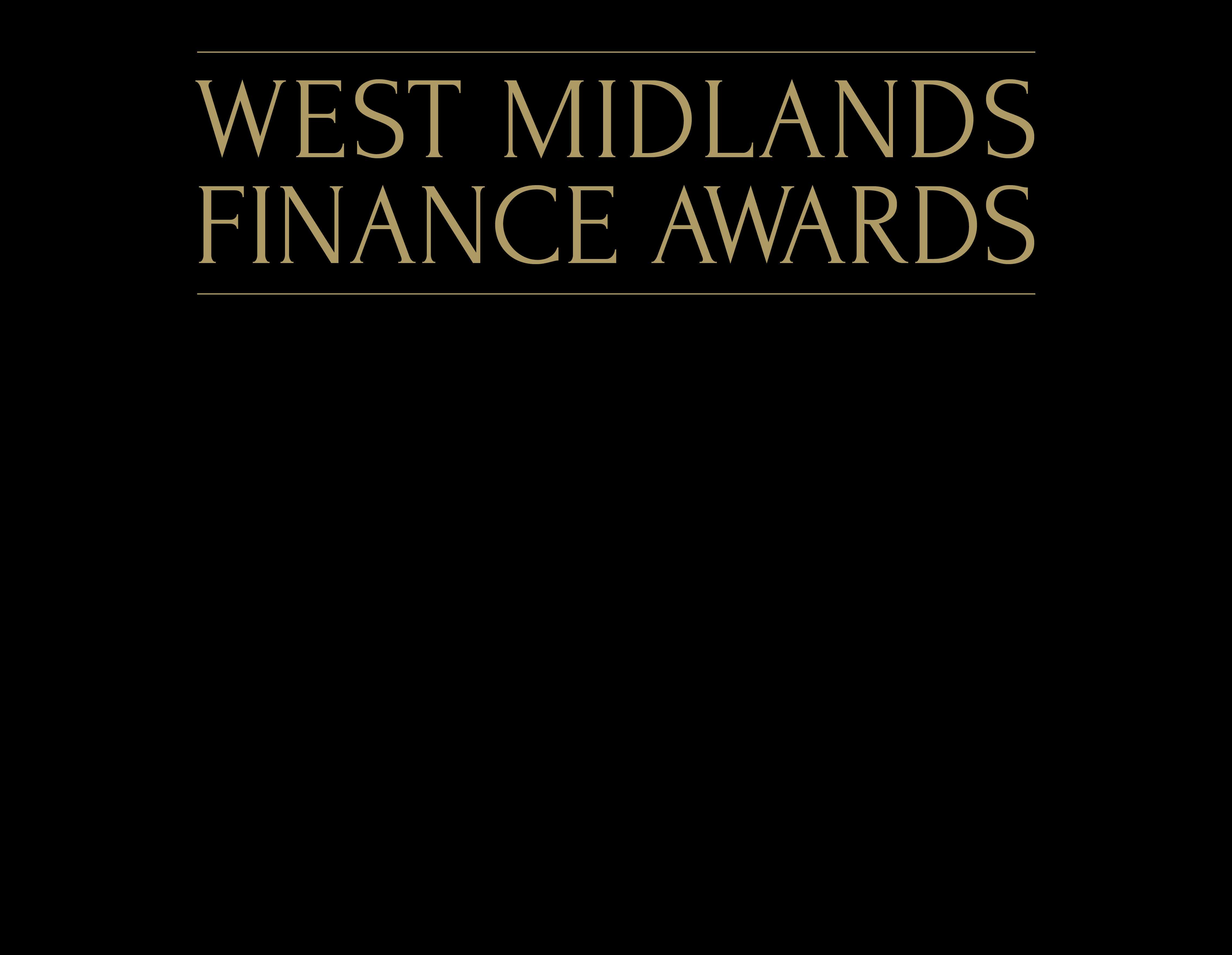 West Midlands Finance Awards logo with black banner