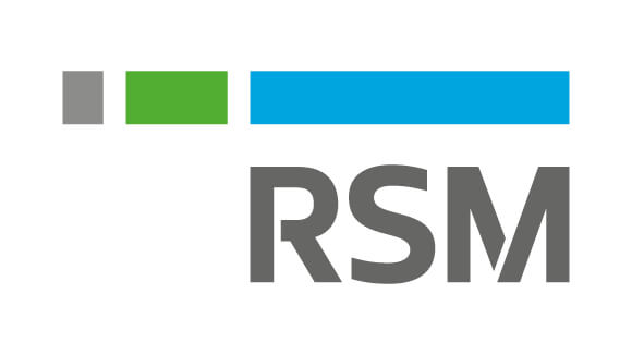 RSM logo in grey blue and green