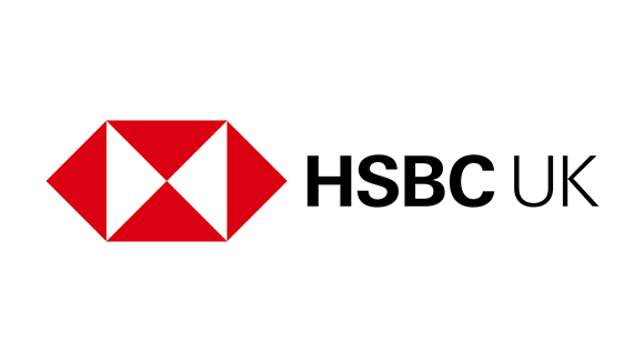 HSBC black red and white logo