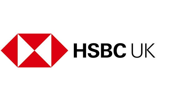 HSBC red white and black logo