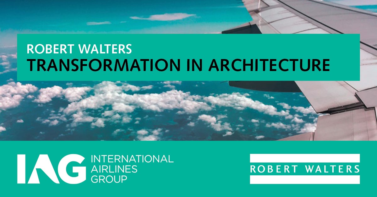IAG GBS Transformation in Architecture event banner