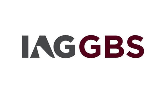 IAG GBS logo grey and maroon