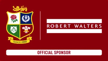 Robert Walters and British Lions sponsorship logo