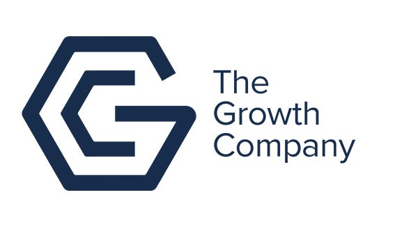 The Growth Company logo blue and white