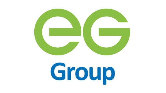 eg group logo green and blue