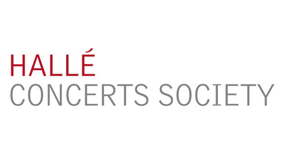 the halle concerts society logo with red and grey writing