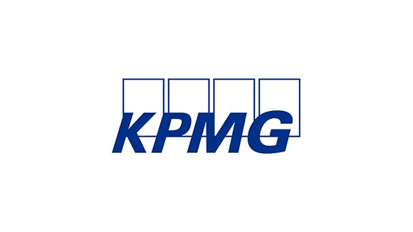 kpmg logo blue with blue squares