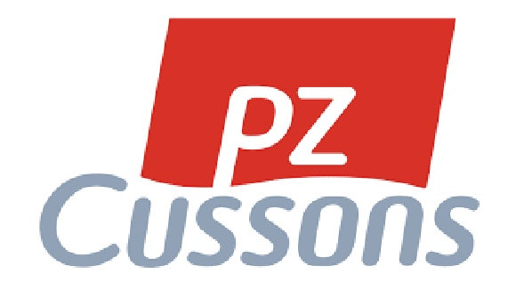 pz cussons logo in grey and red
