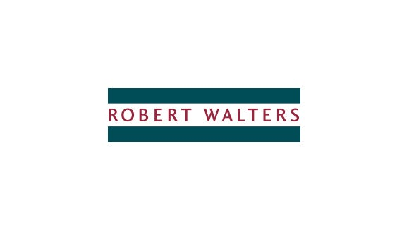 Robert Walters logo coloured green and red logo
