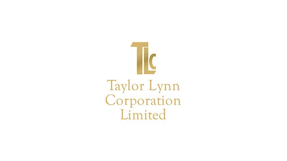 Taylor Lynn Corporation gold and white