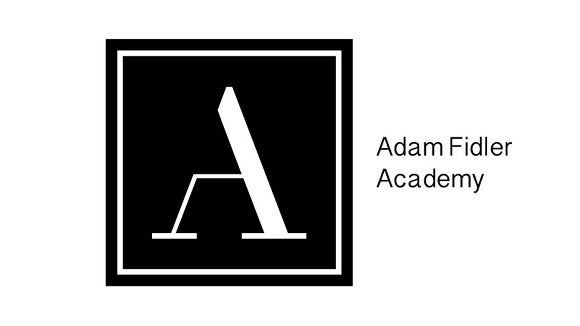 adam fidler academy logo in black and white