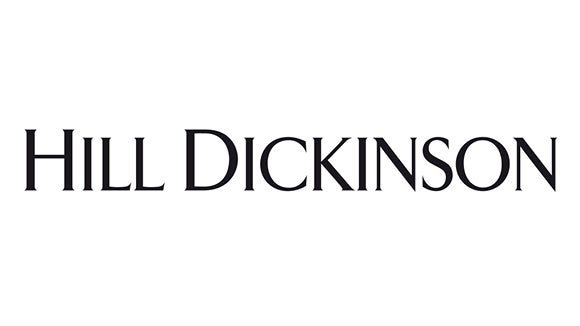 hill dickinson logo in black and white