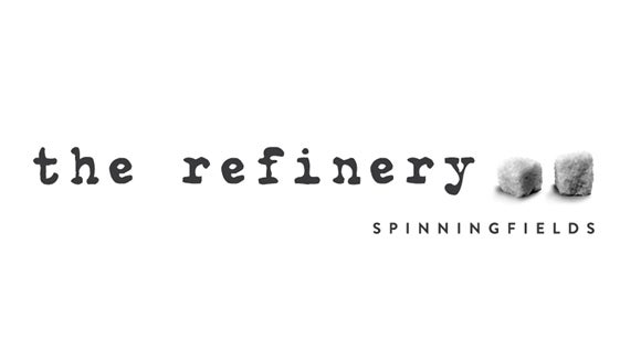 refinery logo in black and white