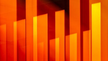 Orange and yellow abstract vertical lines