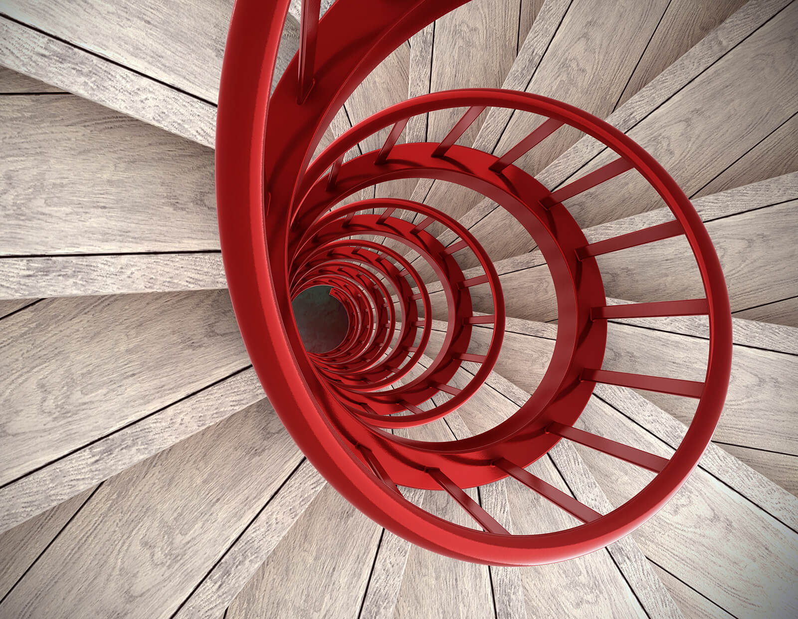 Salary Survey red spiral staircase
